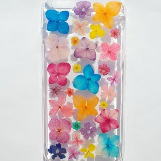 Handmade phone case, Pressed flowers phone case, iphone 6 plus phone case, Colorful ( 2 )