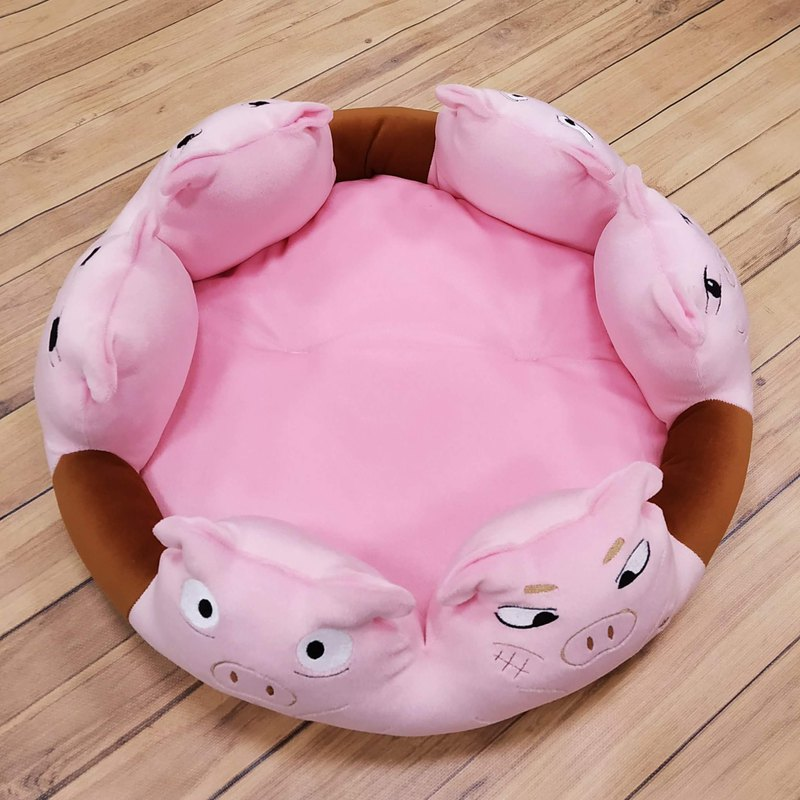 Animal Mattress-Soup Pig Six Expressions Dog Mat Cat Mat Pet Bed Removable Mattress