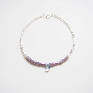 Water droplets through the glass • elegant purple beads • bracelet bracelet • gift