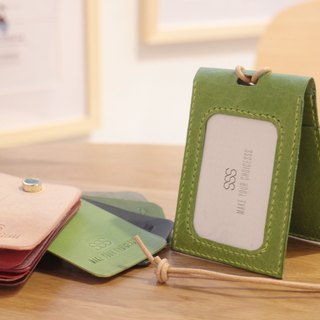 Make Your Choicesss handmade Italian leather neckband folded card sets