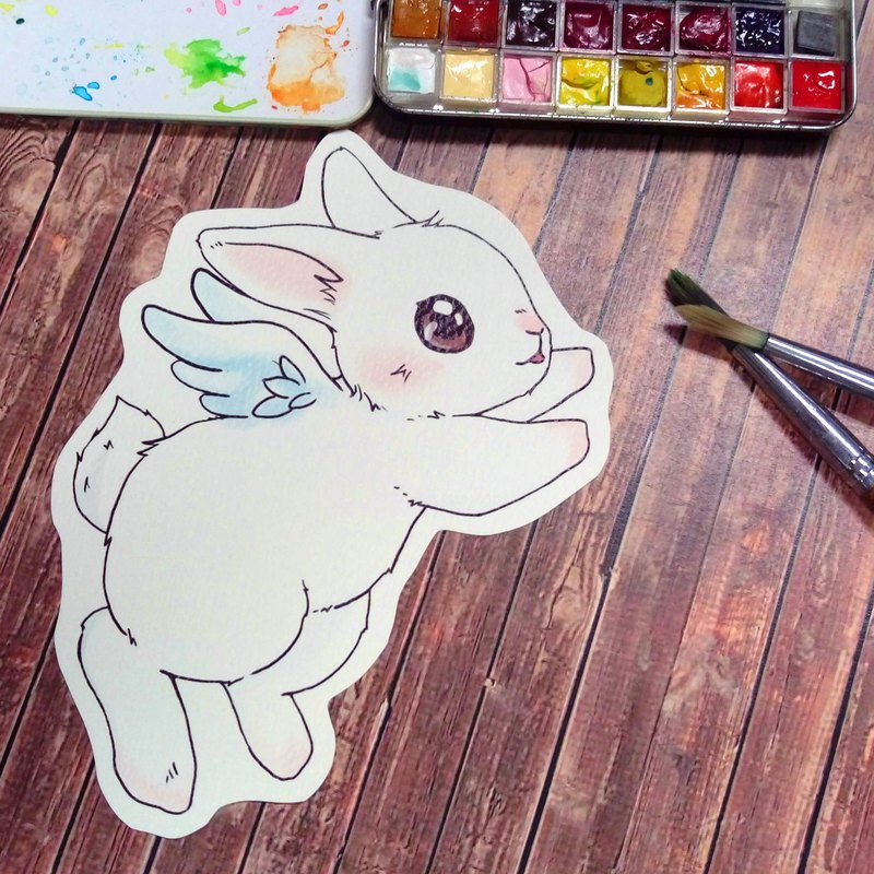 Bunny little angel can color the name letter