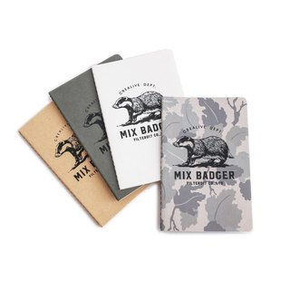 Filter017 x Nine Mount Hill Mix Badger pocket tearable notebook