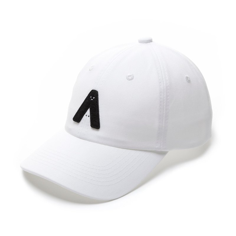 With me! Three-dimensional embroidered retro baseball cap / white models