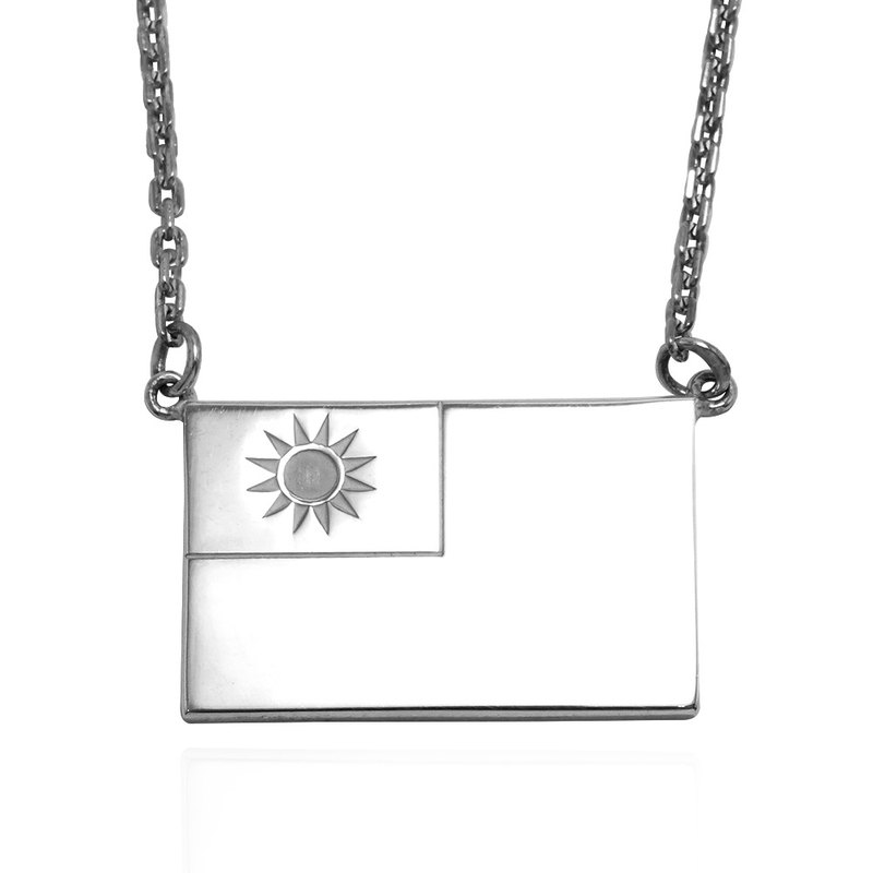 Flag necklace sterling silver necklace 925 sterling silver necklace national flag can be made