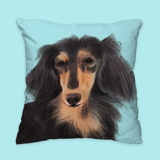 [I will love you forever] classic black sausage pillow dog animal pillow / pillow / cushion