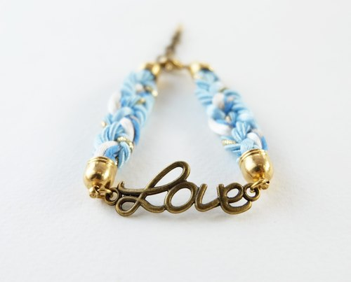 Love bracelet in blue