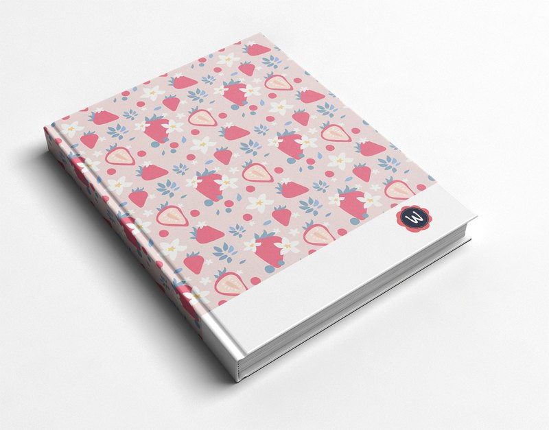 Rococo Strawberry WELKIN Handmade _ handmade book / notebook / PDA / diary - strawberry sweetheart