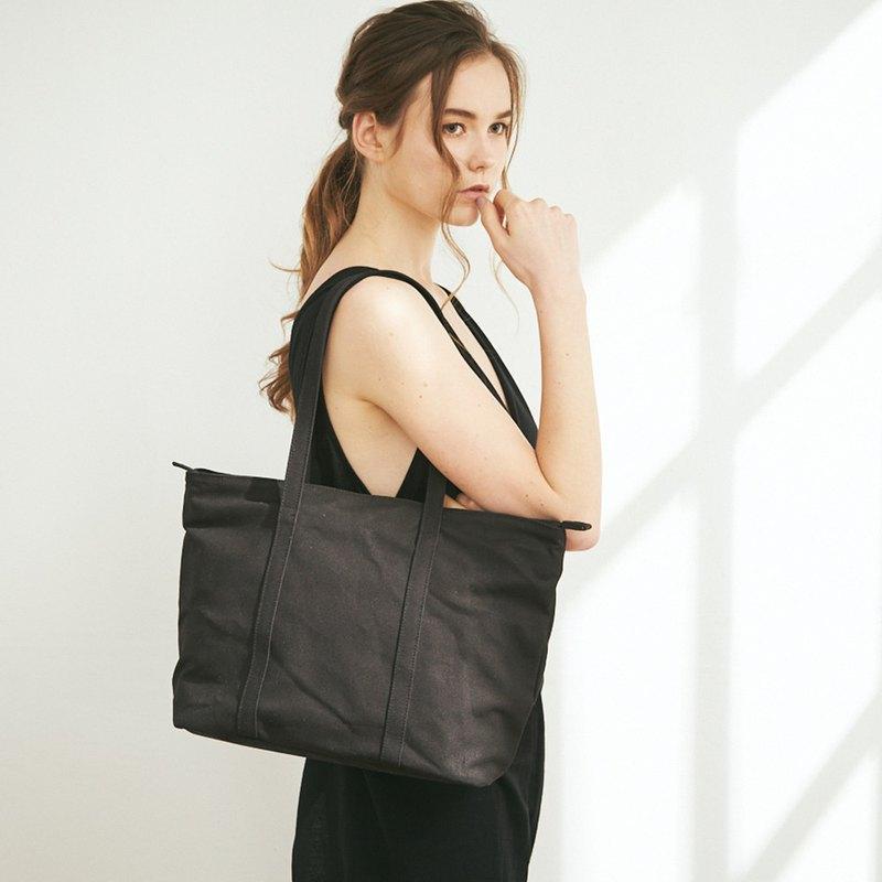 Mika 帆布 3way 側背包 +3號內袋【黑】