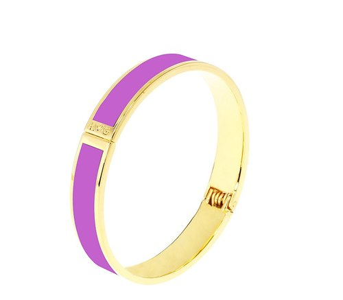 Pure color clove purple velvet wire enamel series solid color bracelet (gold) -11000159019