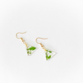 文青系 押花耳环 Pressed Flower Earring