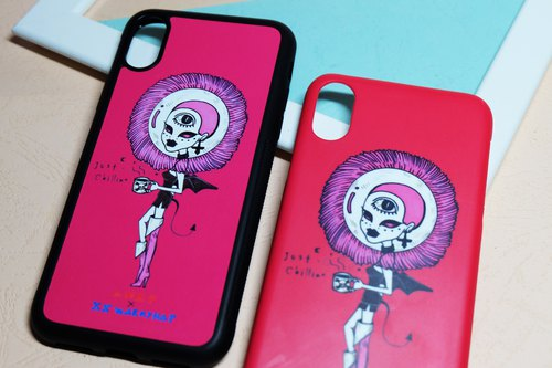 harajuku pink girl Weird original illustrations iphonecase/ order production