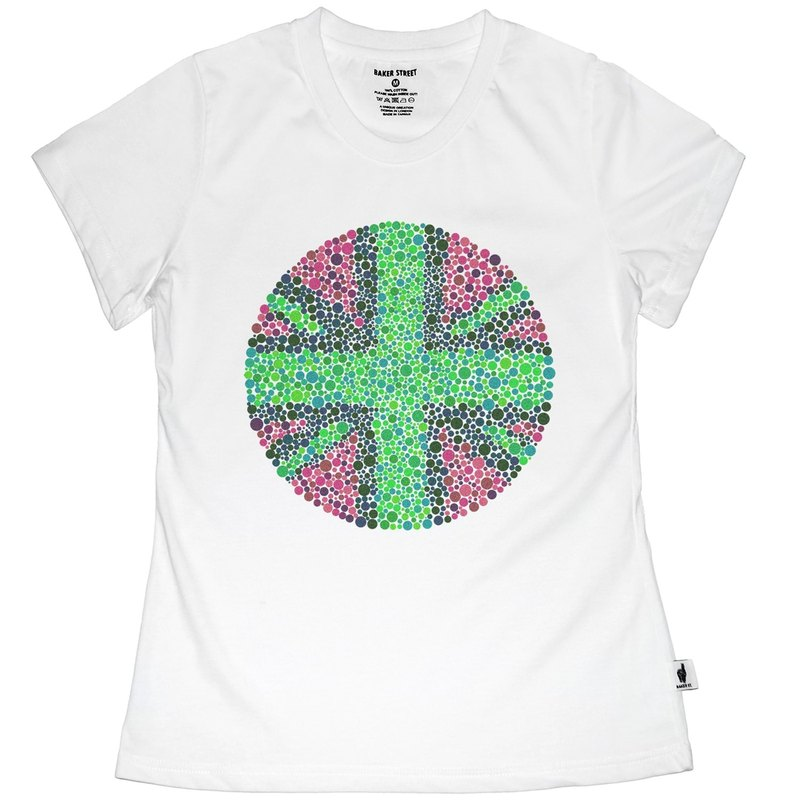 British Fashion Brand [Baker Street] Color Blindness UK Printed T-shirt