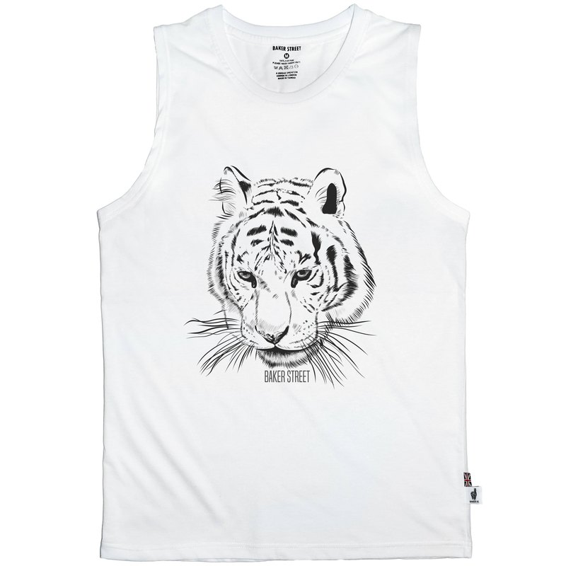 British Fashion Brand -Baker Street- Tiger Printed Tank Top