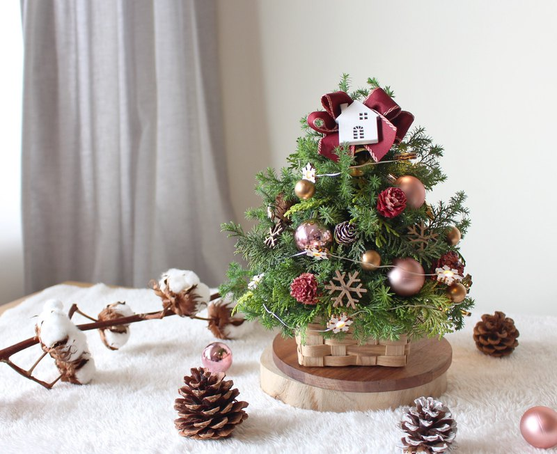 Table type Christmas tree (exchange gifts / Christmas decoration / Christmas arrangement)