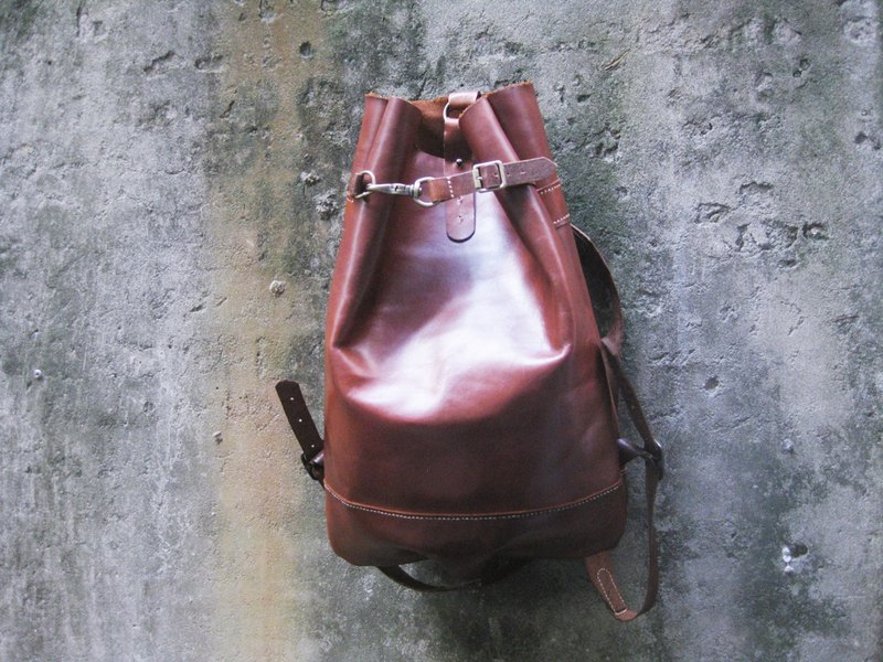 ~ After the garden ~ homemade accessories Italian fat leather backpack BC-336