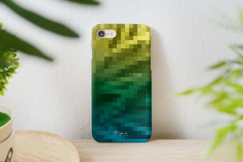 yellow green blue mosaic iphone caseสำหรับ iphone6,7,8, iphone xs, iphone xs max