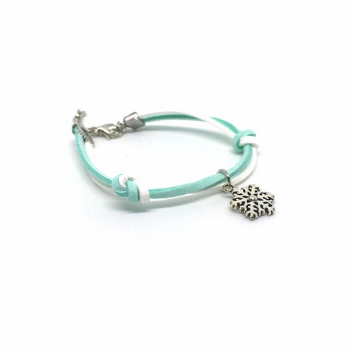 Handmade Simple Stylish Snowflake Bracelets –light blue