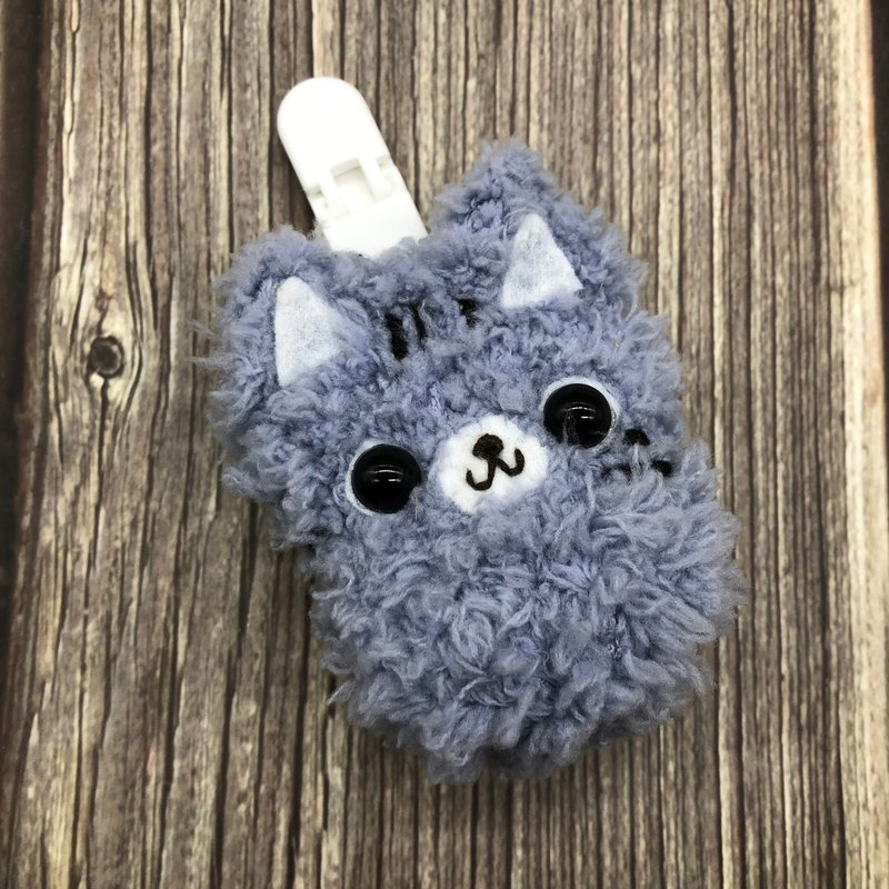 Gray Cat-Safe Charm Bag Amulet Bag
