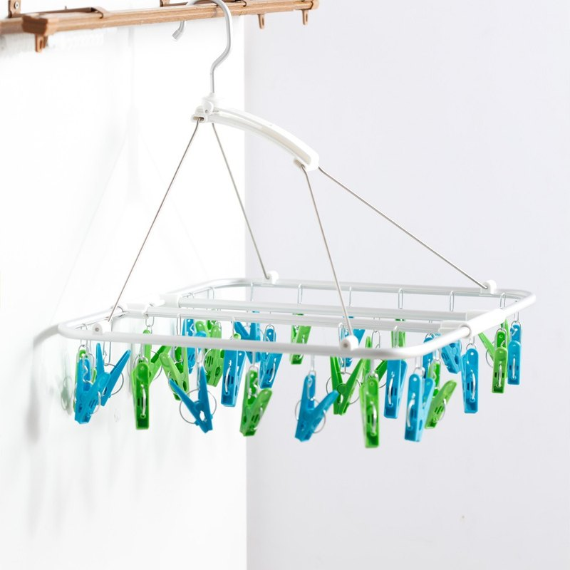 CB Japan Kogure colorful series of indoor aluminum clothes hanger 30 clips