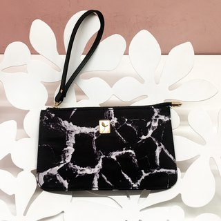 Simulation black marble natural grain coin purse hand-held clutch bag handbag bag