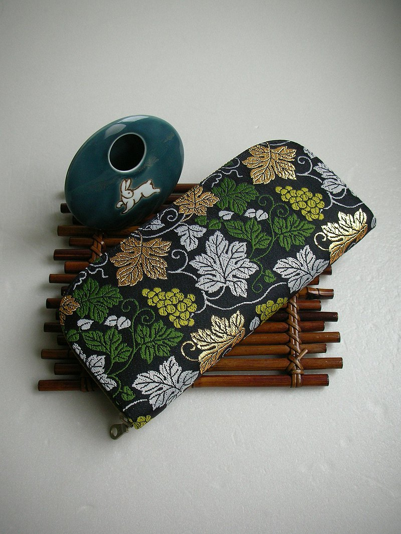 "Jingxijianjinjinjinzhi ""grape leaf pattern"" - long clip / wallet / purse / gift"