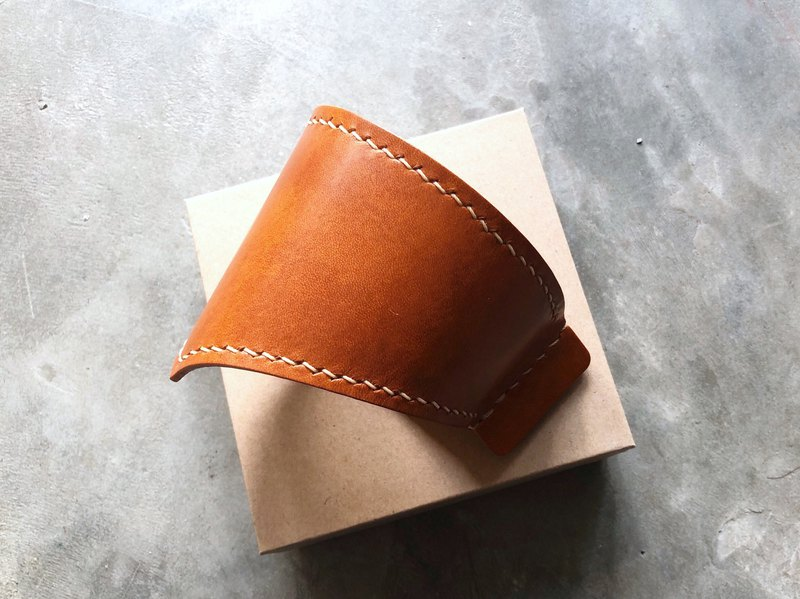 #成品制作杯套 Original Handmade Leather Coffee Starbucks Cup Viking Coffee Takeaway