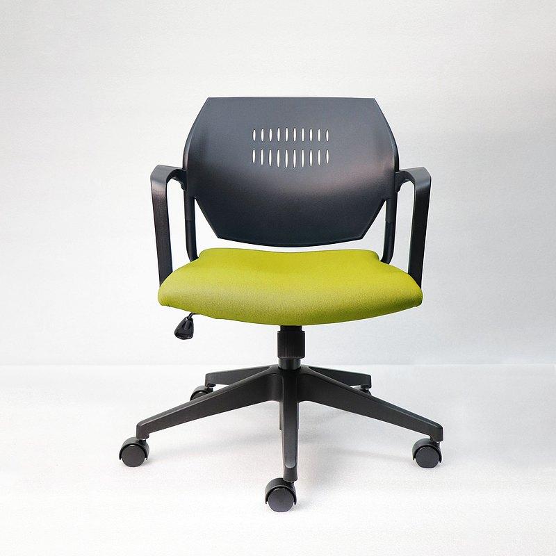 IMPRESSA | 小資扶手辦公椅 - 黑 x 橄欖綠座