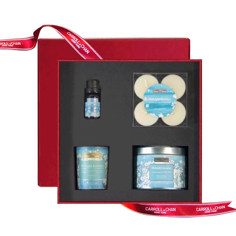 【Gift Set】Midnight Jasmine Beeswax candle gift set