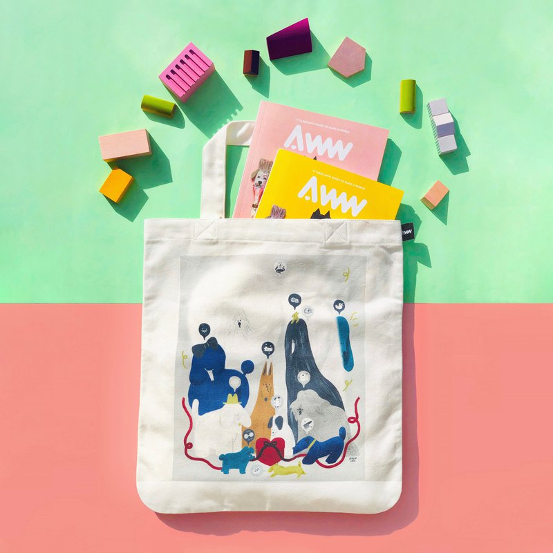 AWW Magazine Volume 1 and Dog Tote Set