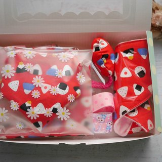 Triangle rice ball Mi Yue gift box appease towel triangle saliva towel pacifier bag