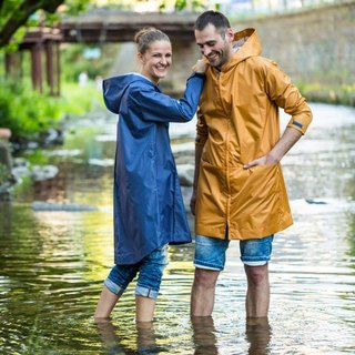 Unisex raincoat orange 'Pocket'