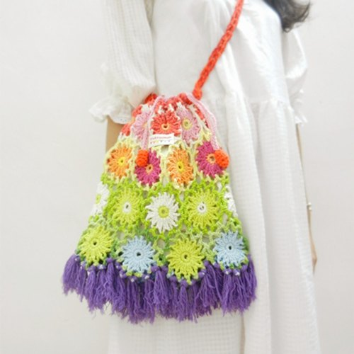 · Original Crochet head series Mobile Messenger bag