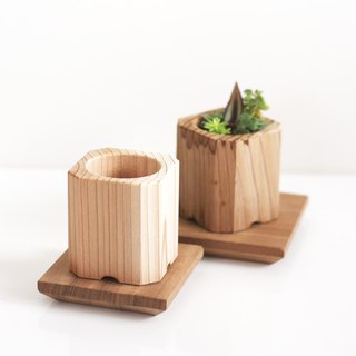 Set of Forest Wooden Plant Pot