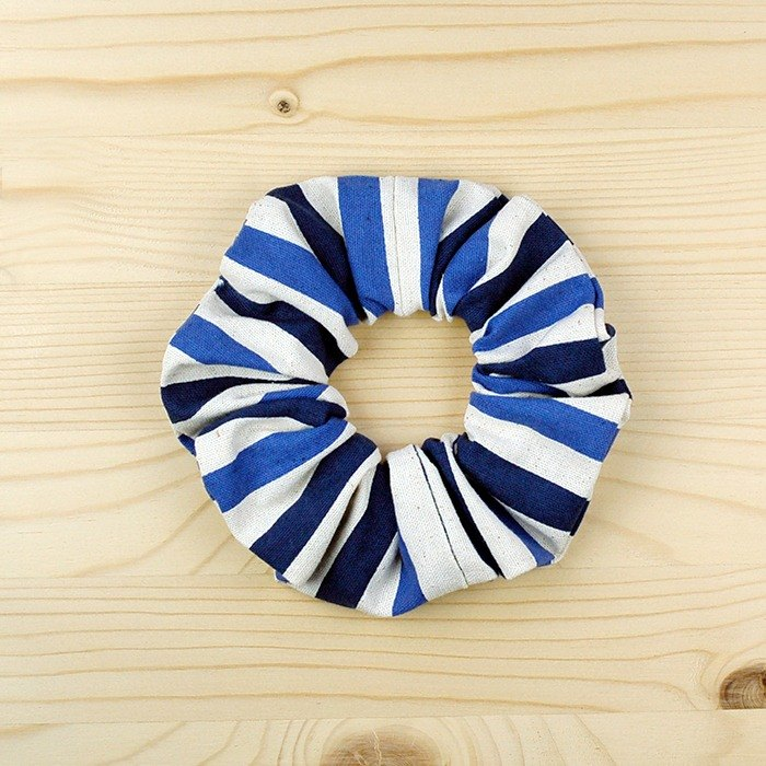 Wen Qing line hair bundle _ blue / large intestine donut hair ring