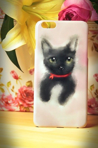 Watercolor cat s009 Take Me Home Videos David cat iPhone i5.i6s, i6splus / Android Samsung Samsung, HTC, Sony designer handsets shell / protective cover / kitty cat phone shell