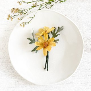 Corsage: Fall cherry - cosmos - (yellow)