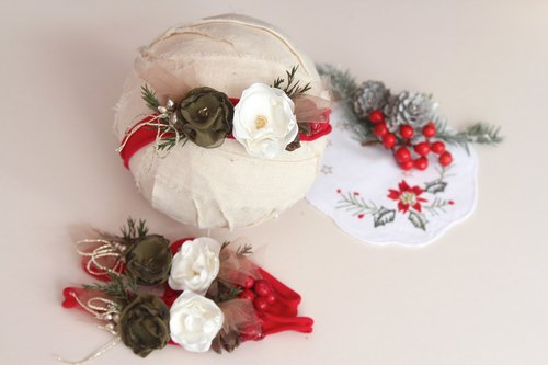 Christmas Headdress Baby Headband Baby Headband Baby Headdress Baby Headband Baby Headband Newborn Headband Headdress Mirage Gifts Mitel Headdress Hundred Days Banquet Headdress Weekly Birthday Birthday Shot Shooting Photography props Baby photography prop