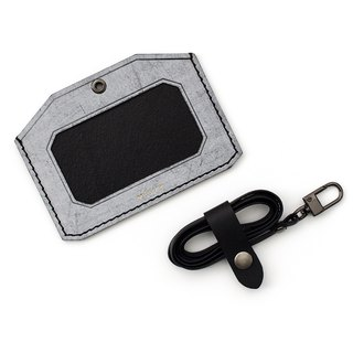 Snow WAX I ID Card Holder Horizontal I Stainless Steel Lanyard Badge