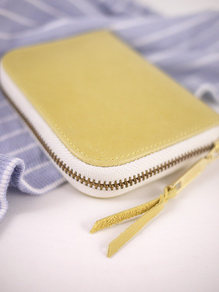Cui Ma's exclusive order - lemon yellow. Classic leather long clip / wallet / wallet / coin purse