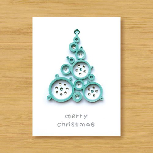Hand-rolled stereo card _ wishes from afar ‧ dream bubble Christmas tree _I ..... Christmas card, Christmas, Christmas tree