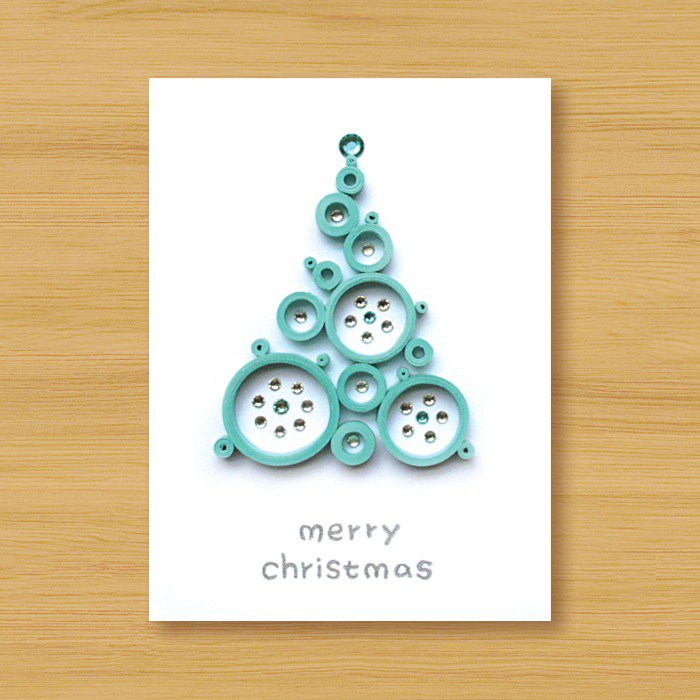 Handmade Roll Paper Christmas Card _ Blessings from afar ‧ Dream Bubble Christmas Tree _I