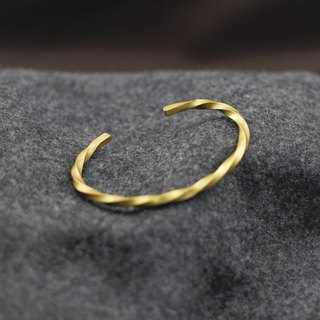Brass hand-made spiral bracelet