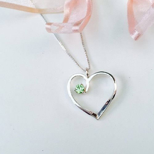 Apple silver necklace │ handmade limited edition Valentine's Day merchandise