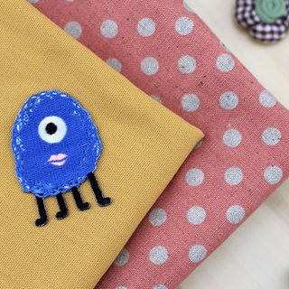 Large-eyed wool Strange self-adhesive embroidered cloth stickers - Monster Planet World of Whimsical World Series
