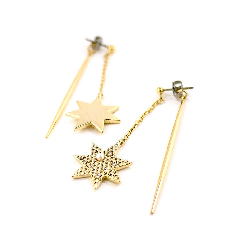 JewCas Brillante Star Drop Earrings -JC2787