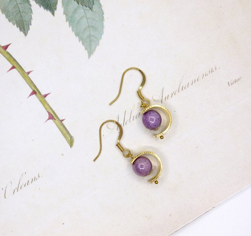 purple planet earring
