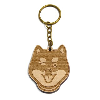 Shiba / red wood / wool children / pet / dog / carpentry / wood key ring / gift / customized