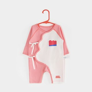 Xie Jin newborn baby cotton lace jumpsuit climbing clothes 0-6 Month - Red Windsor