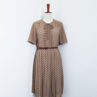 Banana Flyin Vintage :: Dotted Body :: Vintage Dress with Short Sleeve