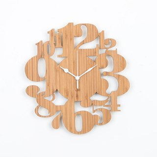 LOO Wall Clock . Numbers Garden